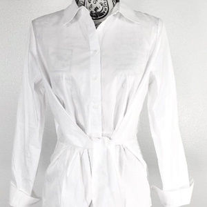 Romeo & Juliet White Tie Front Blouse Top